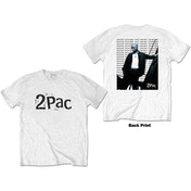 Tupac - Changes Back Repeat Men's Large T-Shirt - White