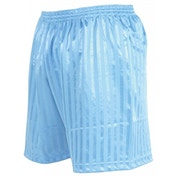 Precision Striped Continental Football Shorts 26-28 inch Sky Blue