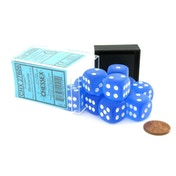 Chessex 16mm D6 Dice Block: Frosted Blue/white