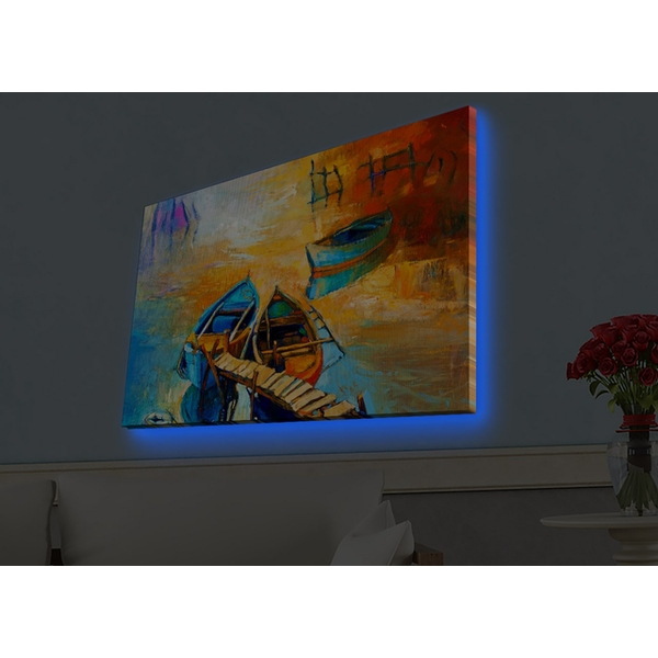 4570HDACT-039 Multicolor Decorative Led Lighted Canvas Painting