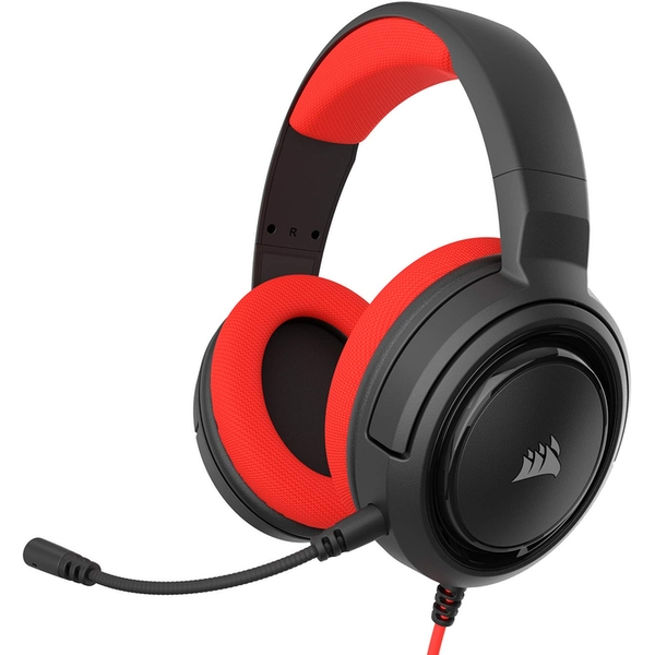 Corsair HS35 Stereo Gaming Headset PC, Xbox One, PS4, Nintendo Switch and Mobile Red