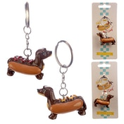 Hot Dog Keyring (1 Random Supplied)