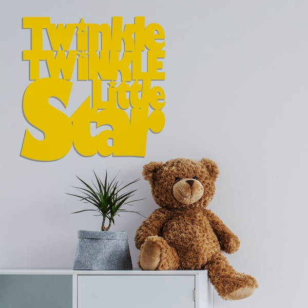 Twinkle - Yellow Yellow Decorative Wooden Wall Accessory