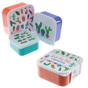 Cactus Design Set of 3 Plastic Lunch Boxes
