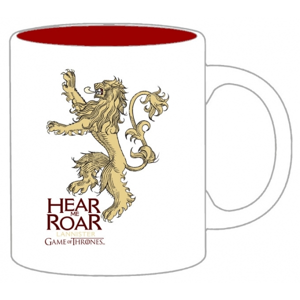 Game of Thrones Lannister cup white And Red