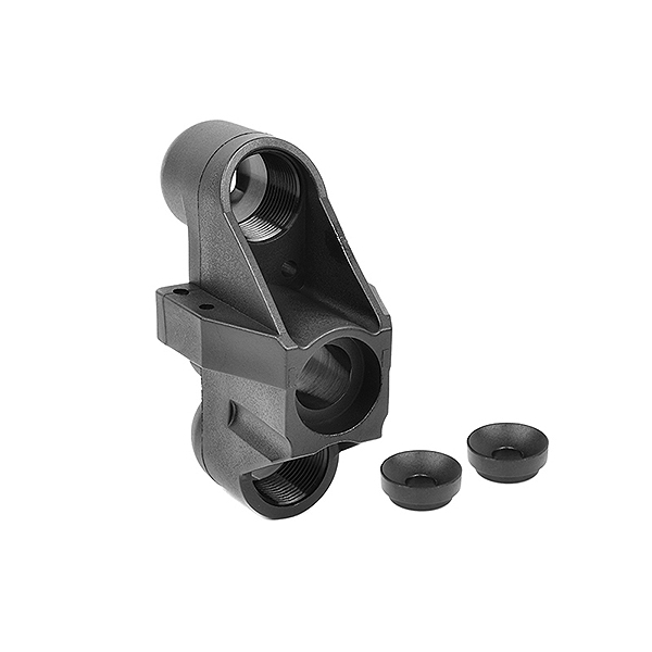 Corally Steering Block Wide Pivot Ball Cup (2) Front Composite 1 Set