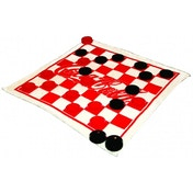 Coca-Cola Rug Checkerboard Game