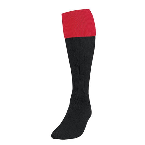 Precision Black/Red Turnover Football Socks UK Size 3-6
