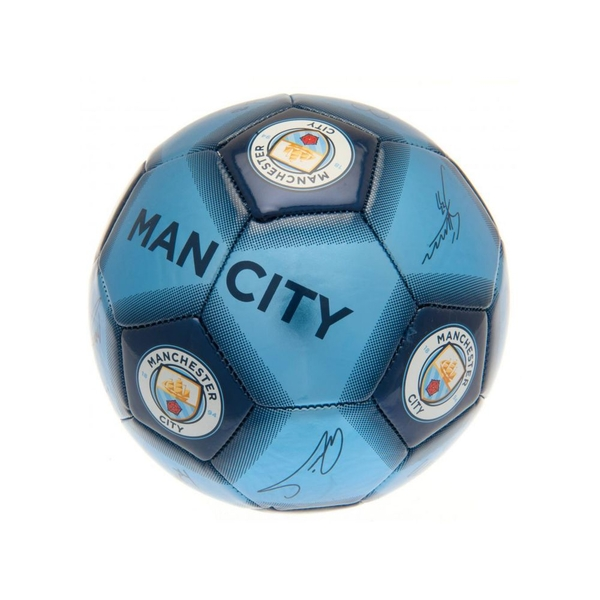 Man City Signature Ball Size 5 Metallic Blue 7080