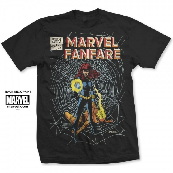 Marvel Comics Marvel Fanfare BW Mens Black T Shirt X Large