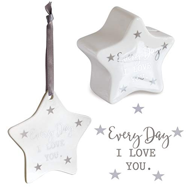 Said with sentiment Star Shaped Money Box & Hanging Star Decoration - Every Day