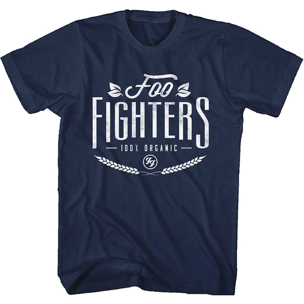 Foo Fighters - 100% Organic Unisex Large T-Shirt - Blue
