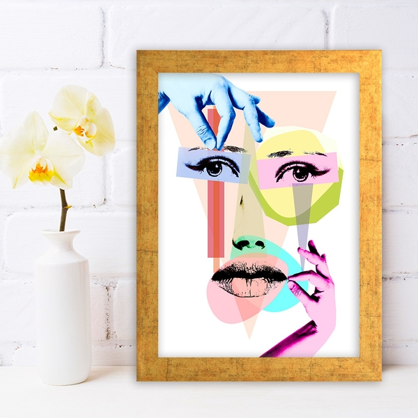 AC1088184668 Multicolor Decorative Framed MDF Painting