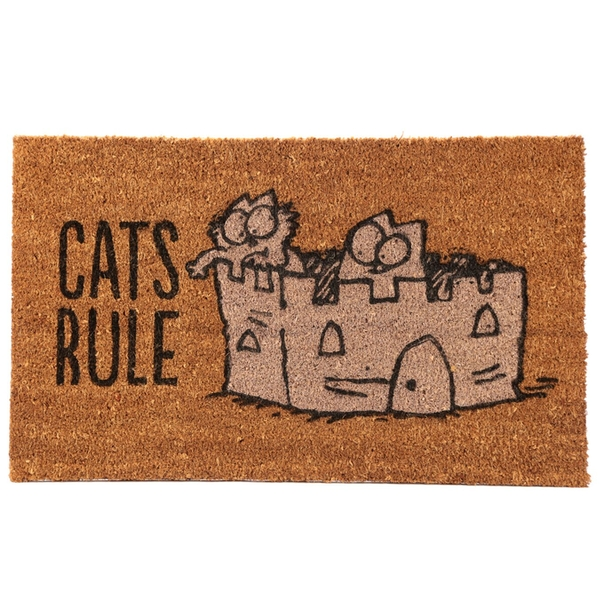 Cat's Rule Simon's Cat Coir Door Mat