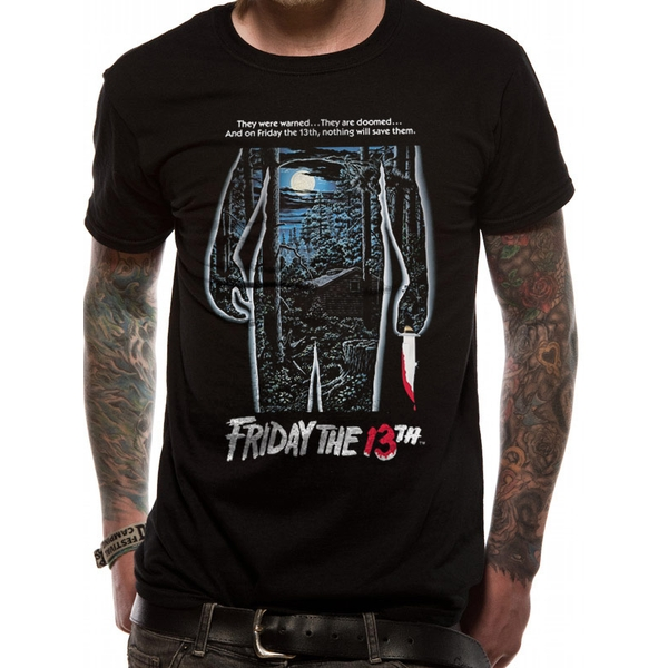 Friday The 13th - Men's Small Movie Sheet T-Shirt (Black)