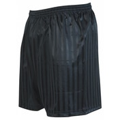 Precision Striped Continental Football Shorts 26-28 inch Black