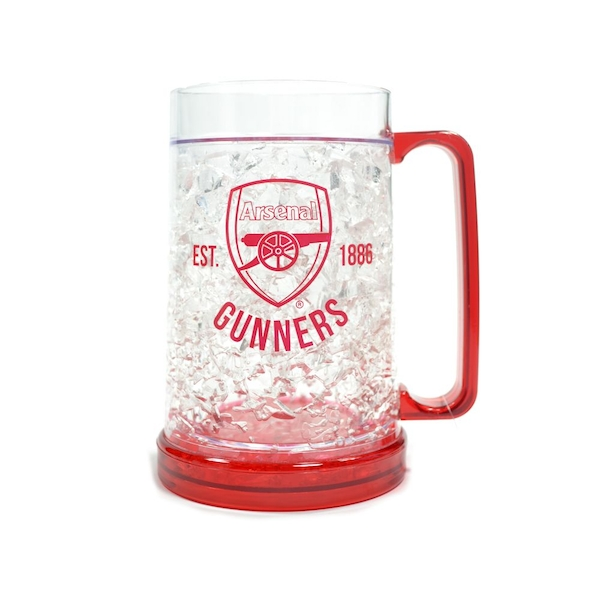 Arsenal Freezer Tankard Clear Crest