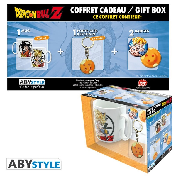 Dragon Ball - Mug + Keychain + Badges Gift Box