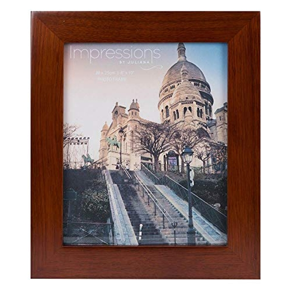 "8"" x 10"" - Impressions Flat Edge Walnut Finish Photo Frame"