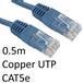 RJ45 (M) to RJ45 (M) CAT5e 0.5m Blue OEM Moulded Boot Copper UTP Network Cable - Image 2