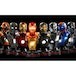 Hot Toys Set of 8 Iron Man (Iron Man 3) Series 2 Collectable Busts - Image 2