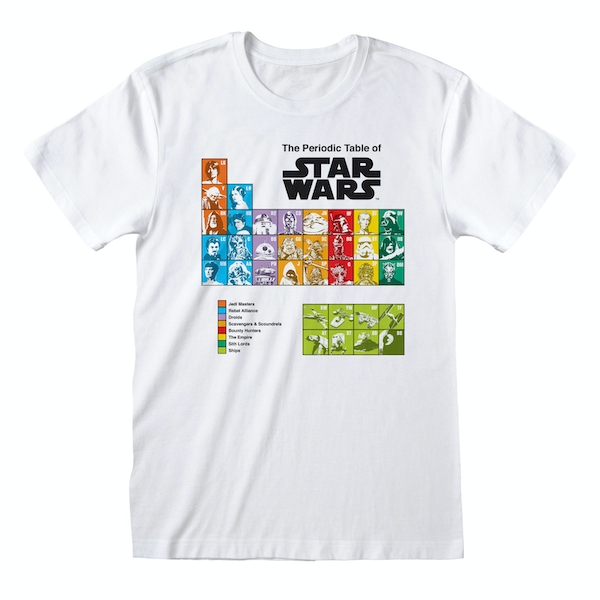 Star Wars - Periodic Table Unisex X-Large T-Shirt - White