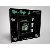 Rick and Morty - Wrecked Hip Flask Gift Set
