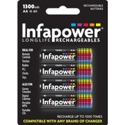 INFAPOWER AA 1300MAH NI-MH Rechargeable Batteries (4-Pack) B003