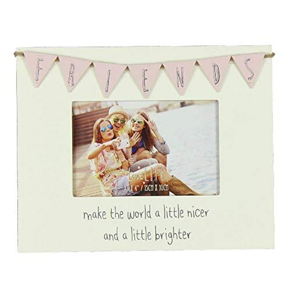"6"" x 4"" - Love Life Bunting Photo Frame - Friends"