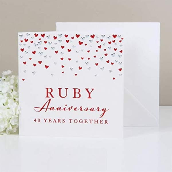 AMORE BY JULIANA? Deluxe Card - Ruby Anniversary