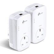 TP-LINK (TL-PA8010P KIT V2) AV1300 GB Powerline Adapter Kit AC Pass Through UK Plug
