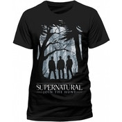 Supernatural - Group Outline Unisex XX-Large T-Shirt - Black