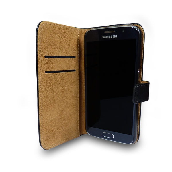 Samsung Galaxy S5 Leather Phone Case + Tempered Glass Screen Protector Flip Gadgitech - Image 6