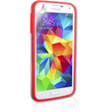 YouSave Accessories Samsung Galaxy S5 Bumper Case - Clear-Red