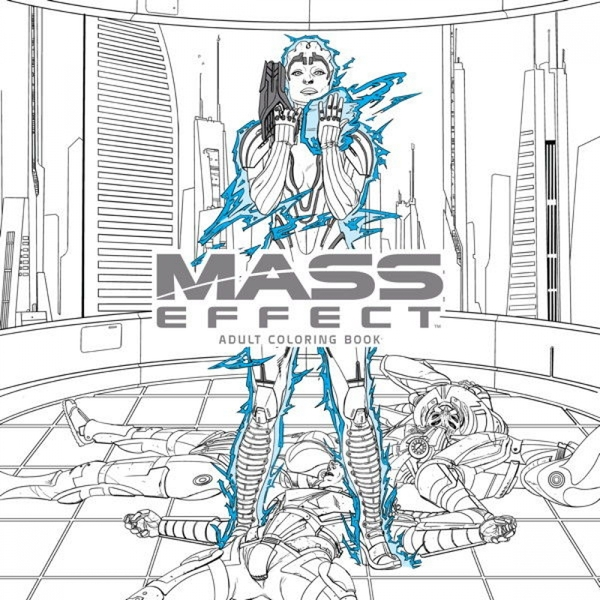 Mass Effect Adult Colouring Book Paperback
