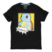 Pokemon - Squirtle PopArt Men's Small T-shirt (Black)