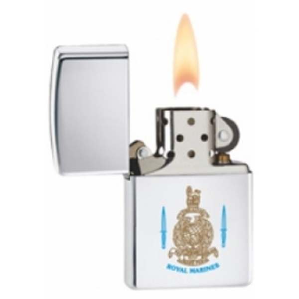 Zippo Royal Marines High Polish Chrome Windproof Lighter - Image 2