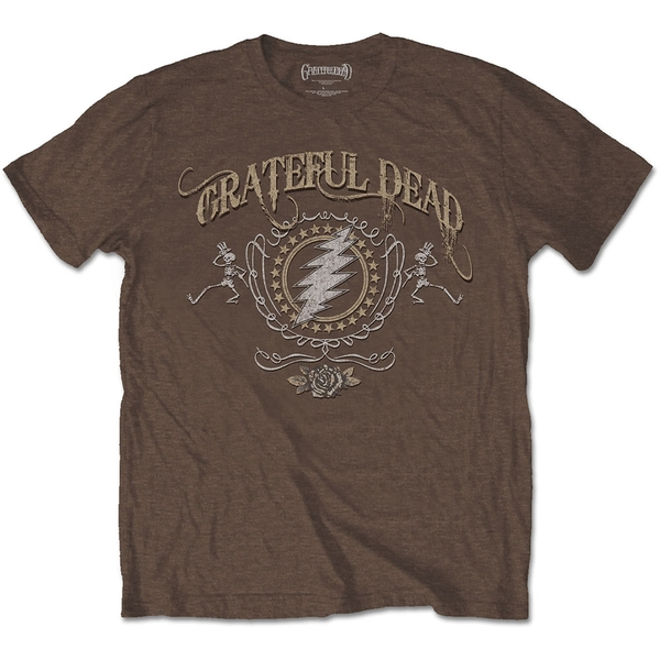 Grateful Dead - Bolt Men's Medium T-Shirt - Brown