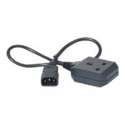 Power Cord  C14 to BS1363 socket (UK)  0.6m