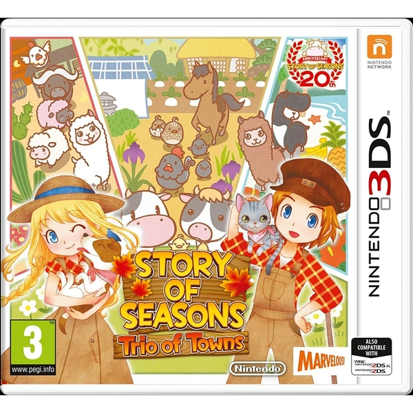 Story of Seasons Trio of Towns 3DS Game