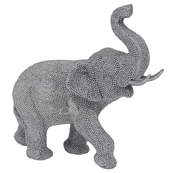Silver Art Elephant Figurine by Lesser & Pavey