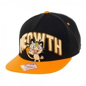 Pokemon Unisex Meowth Snapback Black Baseball Cap