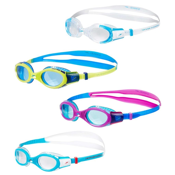 Speedo Futura Flexiseal Biofuse Goggles Junior Blue/Purple/Mint Junior