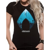 Aquaman Movie - Logo And Symbol Women's Medium T-Shirt - Black