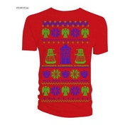 Doctor Who - Ugly Xmas Sweater Men's Large T-Shirt - Red
