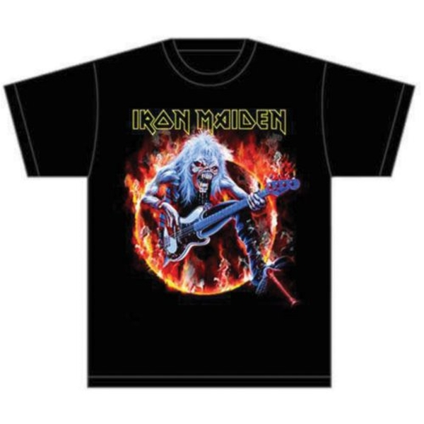 Iron Maiden - Fear Live Flames Unisex Large T-Shirt - Black