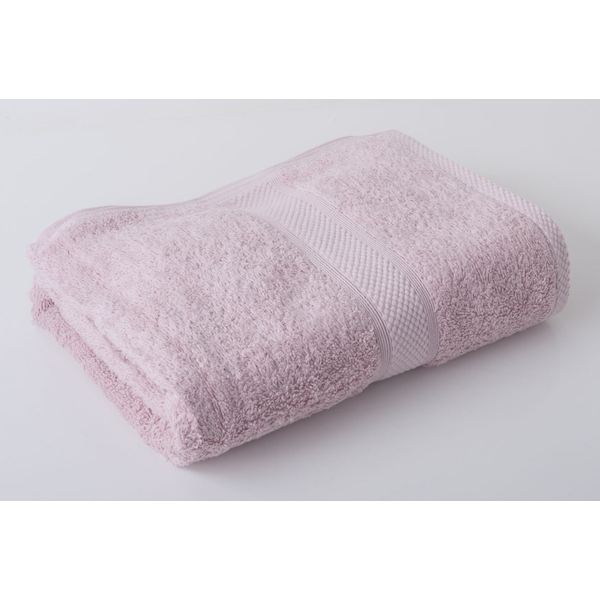 Victoria London Luxury Combed Bath Towel, Dusky Pink