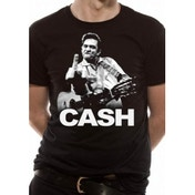 Johnny Cash Finger T-Shirt Small - Black