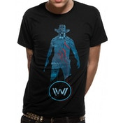 Westworld - Blue Man Men's Small T-Shirt - Black