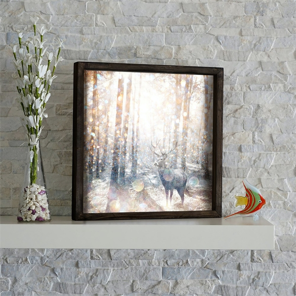 KZM483 Multicolor Decorative Framed MDF Painting